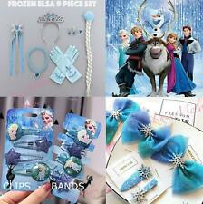 Frozen Elsa Women Girl Kids Crystal Snow Flake Anna Costume Hair clip hair band