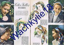 Elle n°26 du 23/05/1946 Madeleine Lebeau Carré mode fashion