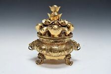 Chinese Fengshui Bronze Wealth Yuanbao Money Pot