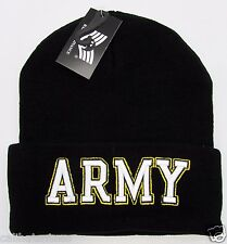 US ARMY Military Cuff Beanie Skull Cap Hat United States U.S. Winter Caps NWT