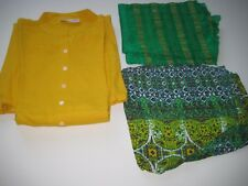 Salwar Suit 3 Pcs Set Yellow/Green/ Size XXL New