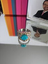 Gems En Vogue Kingman Turquoise Filigree Ring-Size 6