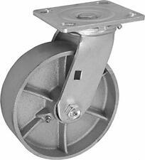 Casterhq 6 X 2 Inch Swivel Caster Semi Steel Cast Iron Wheel 1200 Lbs Capa