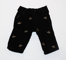 "Gymboree ""Holiday Traditions"" Tan Moose Black Corduory Pull On Pants, 3-6 mos."
