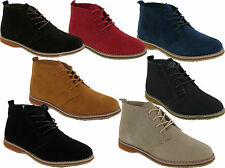 MENS SUEDE WINTER CASUAL LACE UP FASHION BOOTS ANKLE DESERT BOOTS TRAINERS SHOES