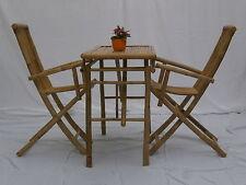 Gartenmöbel-Set Tisch mit 2 Stühle aus Bambus