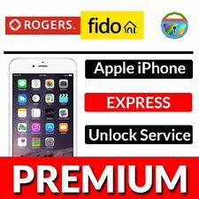 Rogers Fido iPhone Unlock Service FAST 5 5s 6 6s 6+ 6s+ 7 8 X