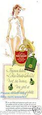 Parfum Lohse Uralt Lavendel Reklame von 1941 Badeanzug Sommer Segelboot Werbung