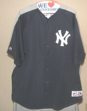 New York Yankees MLB Majestic Classic Blue & Grey Team Logo 3XL Jersey