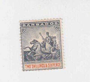barbados 1892 SG 114  mint,no gum         q1594