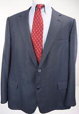 Samuelsohn Blue Gray Black Wool and Silk Nailhead Sport Coat 48 Long 2 Button
