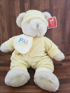 FAO Schwarz Millennium Teddy Bear Stuffed Animal Plush Year 2000 Rare, Very Cute
