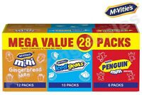 McVities Minis Gingerbread Iced Gems Penguin Biscuit Cookie -Mix Box of 28 Packs