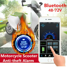Bluetooth Motorcycle Anti-theft One-button Start Alarm Security System +GPS Navi