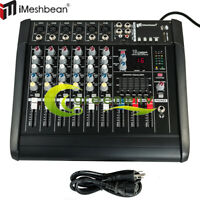 6 Channel 16DSP Professional Powered Mixer power mixing Amplifier USB