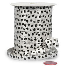 "250 yards Paw Print Curling Ribbon Made in USA Dog Cat Puppy 1/4"" wide"