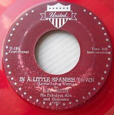 TAB SMITH red vinyl R&B inst. UNITED 45 MR. GEE / IN A LITTLE SPANISH TOWN dm287