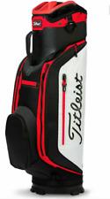 NEW Titleist Club 7 White/Black/Red Lightweight Cart Golf Bag (MSRP $240)