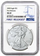 2020 1 oz American Silver Eagle $1 Coin Ngc Ms69 Fr Sku59449