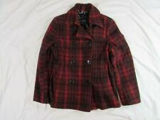 Womens Le Chateau Buffalo Plaid Peacoat Jacket Coat Made in Canada Sz Medium