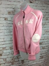 Walt Disney World Tinkerbell Pink Tink Womens M Cardigan Zip Sweater Jacket