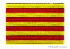 CATALONIA FLAG PATCH embroidered iron-on EMBLEM CATALUÑA CATALUNYA SPAIN FREEDOM