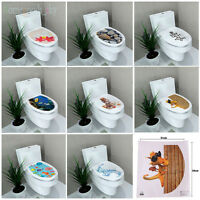 8 style DIY Removable Toilet Seat WC Bathroom Art Home Decals Decor Wall Sticker