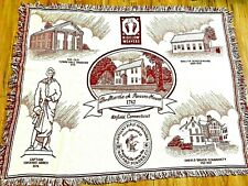 Vintage Enfield, Connecticut Woven Throw Blanket Tapestry Souvenir