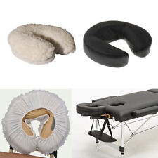 Face Cradle Cushion Pillow with Fleece Cover Set for Massage Table Bed Salon