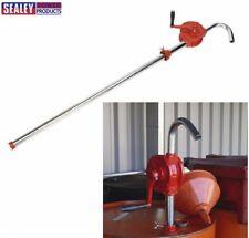 Sealey Rotante Manuale Olio Antigelo Batteria Cilindro Estrattore / Pompa di
