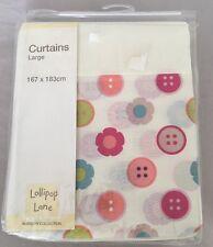"""Lollipop Lane botones de Vivero Cortinas de niñas Flores 167x183cm/66x72"""""""