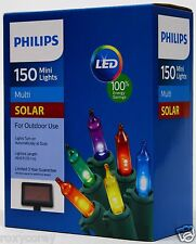 Philips solar outdoor lighting equipment ebay philips solar powered led 150 multi color mini lights bulbs outdoor use nib aloadofball Choice Image