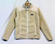 PATAGONIA Woman's Retro-X Sherpa Fleece Jacket Beige Cream Full Zip