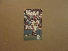 MLB Boston Red Sox 1976 38 WSBK-TV Logo Pocket Schedule