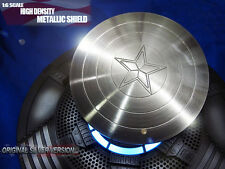 Custom 1/6 Scale For Hot Toys Captain America & Steve Rogers Silver Metal Shield