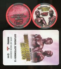 $5 MGM GRAND MAYWEATHER vs BERTO DEC 12 2015 & ROOM KEY LAS VEGAS CASINO CHIP