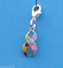 A* Autism Asperger's Clip on Charm Bracelet Pendant Purse Schoolbag Zipper Pull
