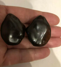 Amber Big Bead Clip On Earrings Superb Antique Art Deco Bakelite Dark