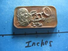 SATCHMO LOUIE ARMSTRONG JAZZ MUSICIAN 1973 SILVER CREATIONS RARE BRONZE BAR