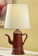 Gift Craft Coffee Pot Table Lamp with Lamp Shade