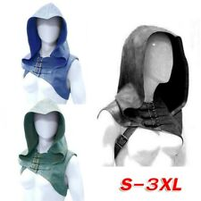 Unisex Retro Medieval Shoulder Vest Hooded Shawl Staging Warrior Cosplay Costume