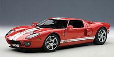Autoart 2004 FORD GT RED/WHITE STRIPES 1:18*New! Rare!