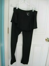 Vc Ice Figure Skating Practice Pants with Skirt all black Al Petite