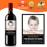 PERSONALISED TEACHER REASON YOU DRINK PHOTO WINE BOTTLE LABEL ANY OCCASION GIFT