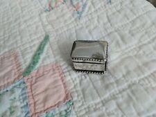 Antique Dutch 800 Silver Dagger Hallmark Pill Box