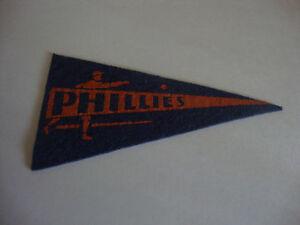 """Philadelphia Phillies---Mini Pennant---Felt---1930's---2 1/2"""" x 4 1/2""""---VHTF"""