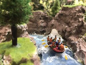 Ho scale (1/87) Rafting Diorama