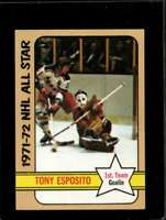 1972-73 TOPPS #121 TONY ESPOSITO VGEX BLACKHAWKS AS HOF NICELY CENTERED  *X2052