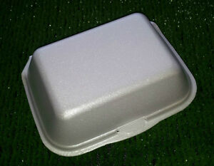 HB9 Medium Hot Box - Polystyrene Takeaway Container- Ideal for Chips, Kebabs etc