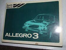 British Leyland Austin Morris Allegro 3 Drivers handbook 1979